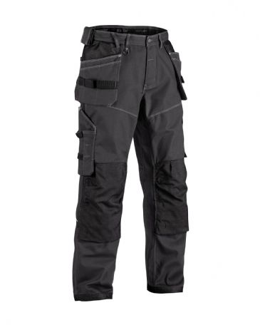 "CLEARANCE Blaklader 1961 X1900 Craftsman Trousers NYCO (Dark Grey/Black)C48 33""W 32""L"
